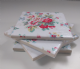 4 Ceramic Coasters in Cath Kidston Trailing Floral in White